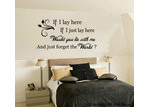 HM Wall Decal If I Lay Here...Would You Lay Here with Me... Removable Wall Decal