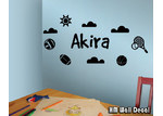 HM Wall Decal Personalised Outdoor Sports Removable Wall Sticker