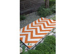 Home & Lifestyle Rust Chevron Laguna Rug
