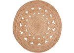 Home & Lifestyle Medallion Round Jute Rug