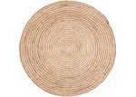 Home & Lifestyle Plumeria Spiral Round Jute Rug
