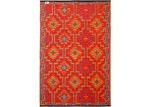 Home & Lifestyle Orange Lhasa Indoor Outdoor Rug