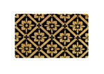 Doormat Designs Black & Gold Classic Coir Doormat