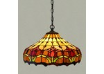 Forest Tiffany Two Light Tulip Ceiling Light