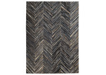 Dotts Rugs Charcoal Patchwork Cowhide Rug