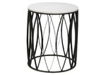 Global Gatherings Black Leaf & White Marble Side Table