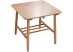 Global Gatherings Natural Oslo Oak Wood Side Table