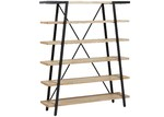 Linea Furniture Elisa Acacia Wood & Metal Bookshelf