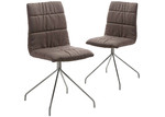 Linea Furniture Chocolate Panya Upholstered Dining Chairs (Set of 2)