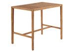 Linea Furniture Cilla Wood Outdoor Rectangular Bar Table