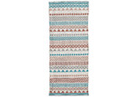 Linea Furniture Teal & Red Shery Hand-Woven Outdoor Rug