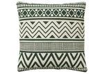 Linea Furniture Green Aztec Print Tara Cotton Cushion