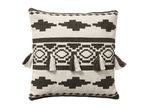 Linea Furniture Black Aztec Print Tara Cotton Cushion
