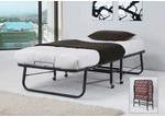 By Designs Black Alfie Single Folding Bed Frame