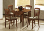 By Designs Alpine 5 Piece Dropside Dining Setting in Antique Oak