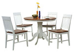By Designs 5 Piece Alice 2 Toned Dining Table & Chair Set