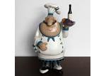 White Angel Happy Chef Sculpture