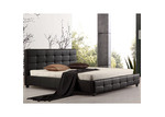 Essential Home Supply Remus Faux Leather King Bed Frame