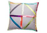Luxotic Beige Patchwork Velvet Cushion
