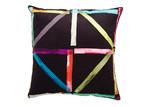 Luxotic Black Patchwork Velvet Cushion