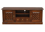 La Verde Carved 160cm Entertainment Unit in Mahogany or Chocolate