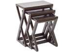 La Verde 3 Piece Cross Legged Nesting Tables