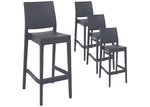 Furnlink 75cm Miraya Outdoor Barstools (Set of 4)