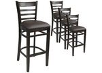 Furnlink 78cm Chocolate Fiera Faux Leather Barstools (Set of 4)