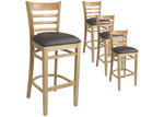 Furnlink 78cm Natural Fiera Faux Leather Barstools (Set of 4)