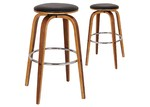 Rowland & Archibald Tyrell Faux Leather Modern Barstools (Set of 2)
