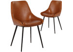 Rowland & Archibald Daimyo Faux Leather Dining Chairs (Set of 2)
