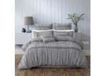 Bianca Grey Giana Cotton Quilt Cover Set