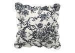 Bianca Black Floral Ashton Square Cushion