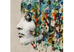 Art Illusions Abstract Hair Canvas Print