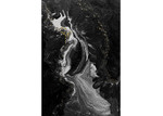 Art Illusions Black & White Pearl Drop Canvas Wall Art