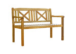 Temple & Webster Santa Cruz 2 Seater Outdoor Timber Bench