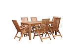 Temple & Webster 7 Piece Palma Majorca Outdoor Timber Dining Set