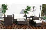 Naturally Provinicial Half Moon Bay 5 Piece Rattan Outdoor Sofa Set