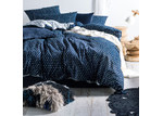Linen House Indigo Oki Cotton Quilt Cover Set