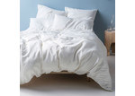 Linen House White Nimes Linen Quilt Cover Set