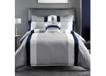 Linen House Navy Barret Quilt Cover Set