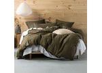 Linen House Olive Nimes Linen Quilt Cover Set