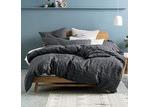 Linen House Charcoal Fergus Cotton Quilt Cover Set