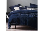 Linen House Navy Deluxe Velvet Quilt Cover Set