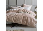 Linen House Peach Deluxe Velvet Quilt Cover Set