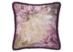 Linen House Wine Floral Neve Cotton Cushion