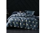 Linen House Navy Geometric Everett Quilt Cover Set