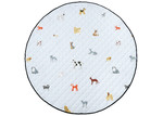 Linen House Blue Dogs For Days Reversible Cotton Playmat