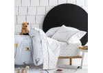 Linen House White & Black Dogs For Days Cotton Sheet Set
