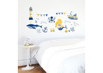 Little Sticker Boy Nautical Collection Sunrise Yellow Wall Decal